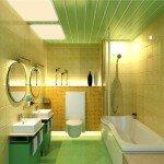 Как сделать пластиковый потолок в ванной, видео