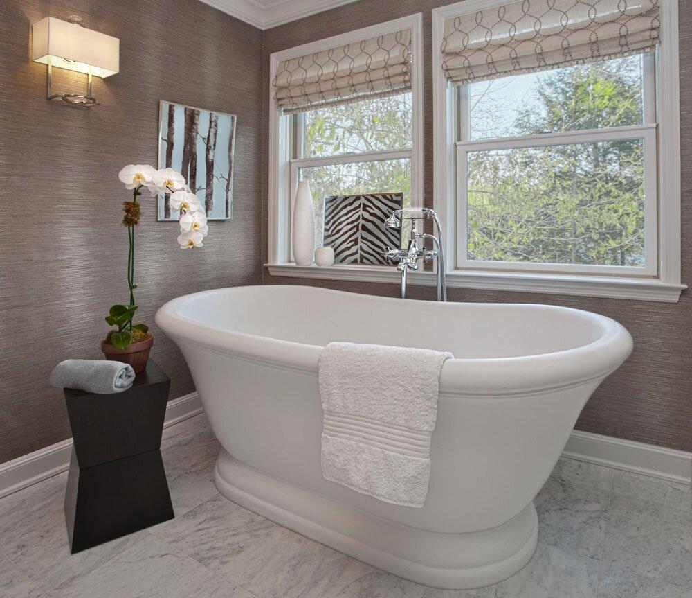 Фото отделка стен в ванной краской