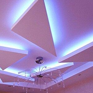 Потолок из гипсокартона своими руками, инструкция