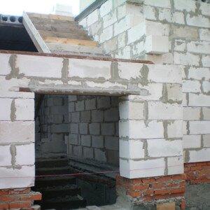 Строительство гаража из шлакоблоков