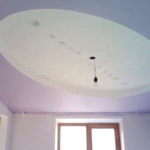 Как нарисовать овал на потолке