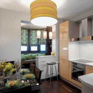 Как совместить балкон с кухней
