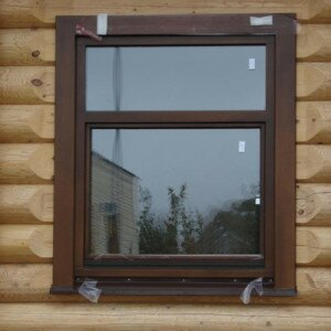 Как установить окна в сруб