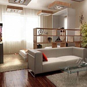 Как разделить комнату на спальню и гостиную