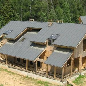 Как построить односкатную крышу