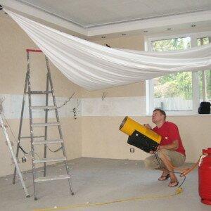 Как сделать самому натяжной потолок